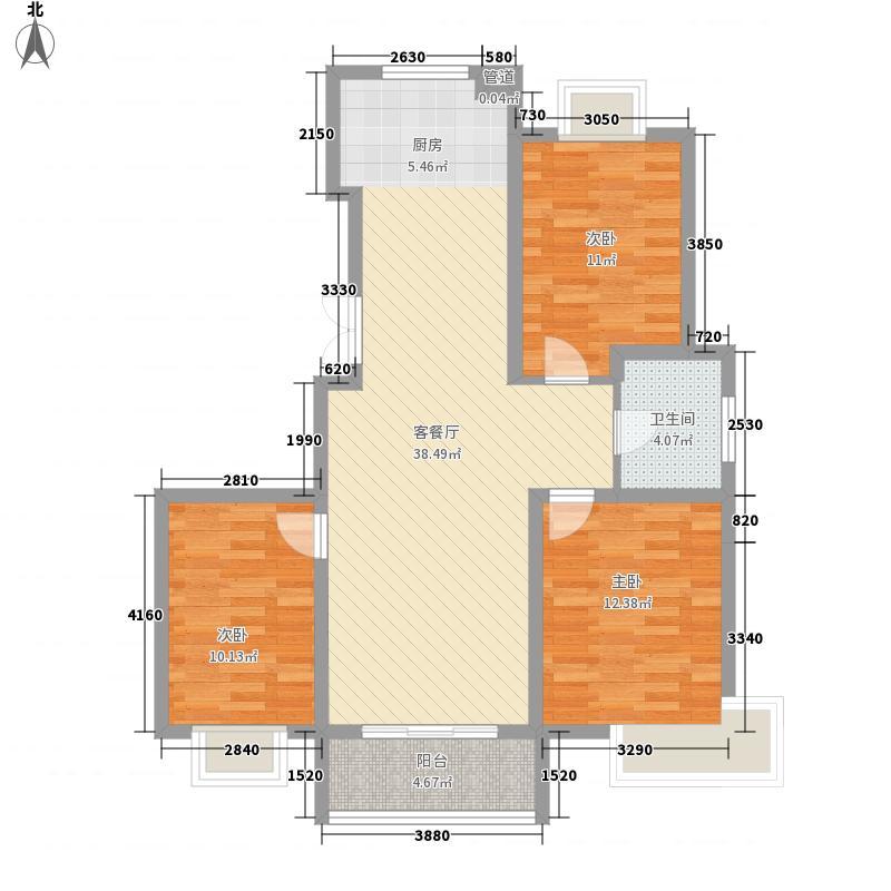瘦西湖名苑116.70㎡G户型3室2厅1卫1厨