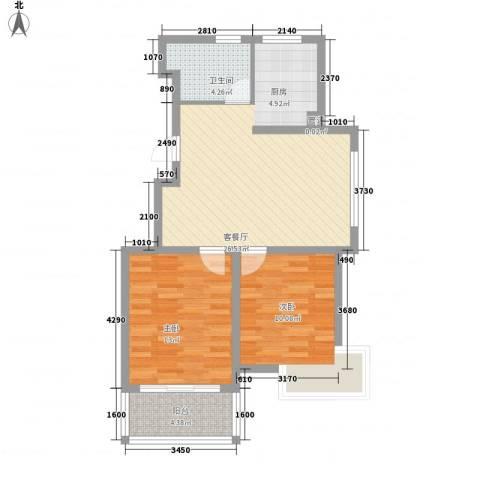瘦西湖名苑2室1厅1卫0厨84.00㎡户型图