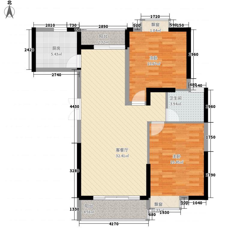 久隆奥斯卡11.00㎡5、6号楼高层B8户型2室2厅1卫1厨