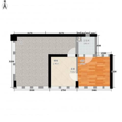 �海1室0厅1卫0厨69.00㎡户型图