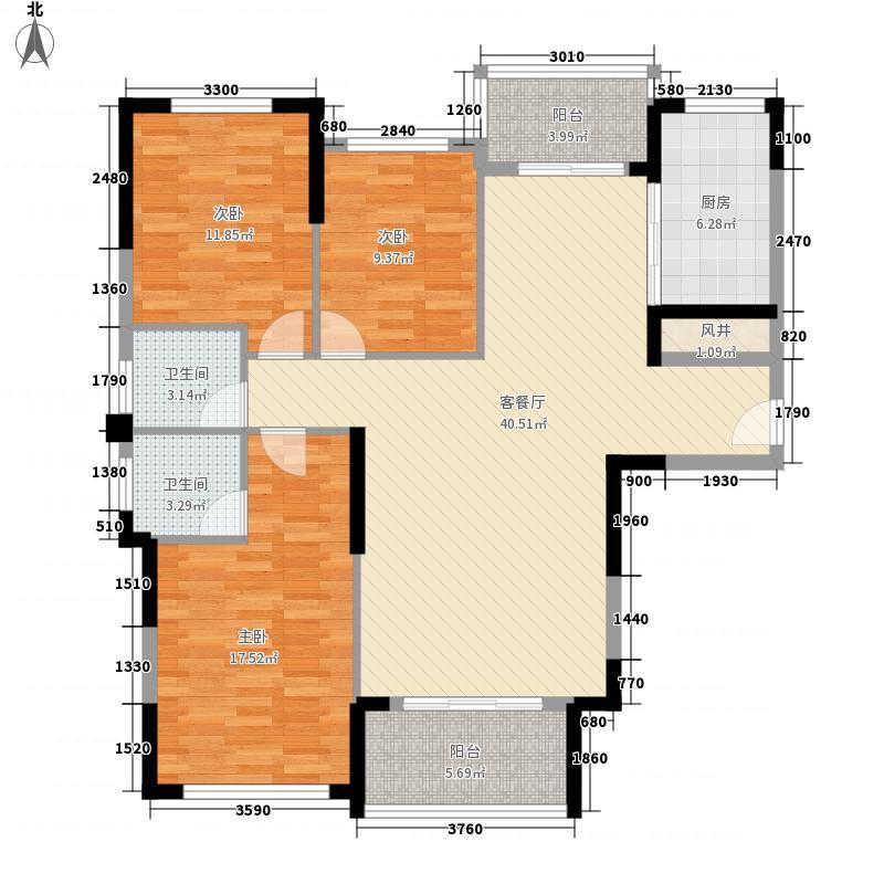 磨基山旅游综合体135.20㎡B1户型3室2厅2卫