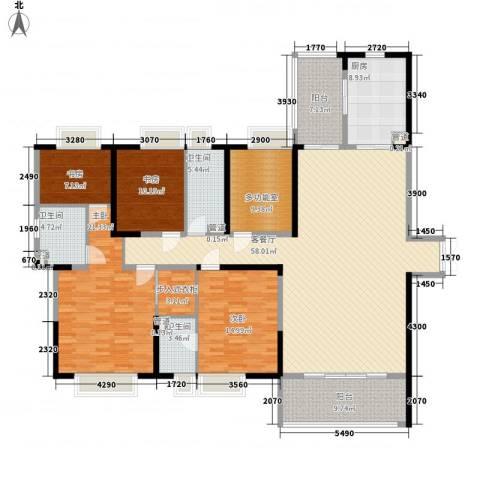 九方城4室1厅3卫1厨230.00㎡户型图