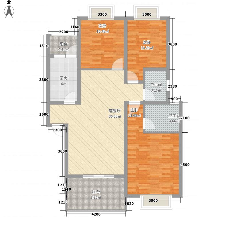 西源时代花城112.50㎡C型户型3室2厅2卫1厨
