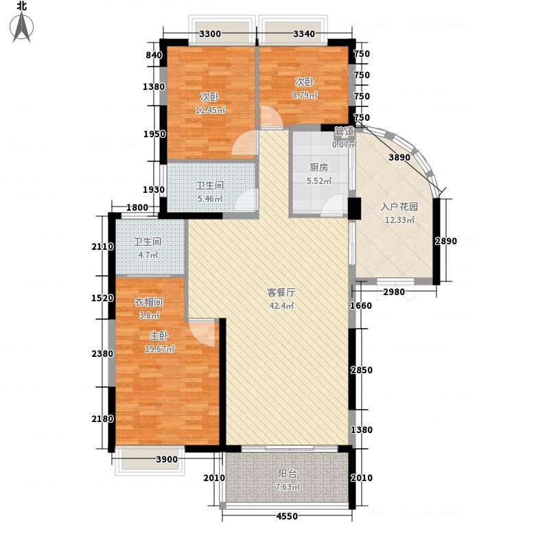 海岸南山144.78㎡15、17、19栋户型3室2厅2卫