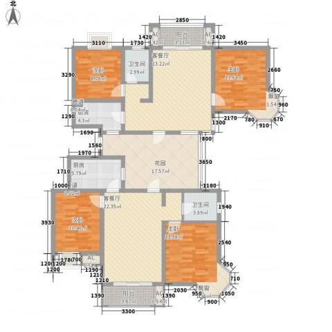 优山美地4室2厅2卫2厨196.00㎡户型图