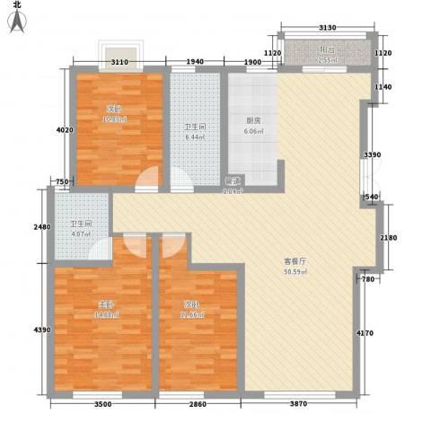 瘦西湖名苑3室1厅2卫0厨145.00㎡户型图