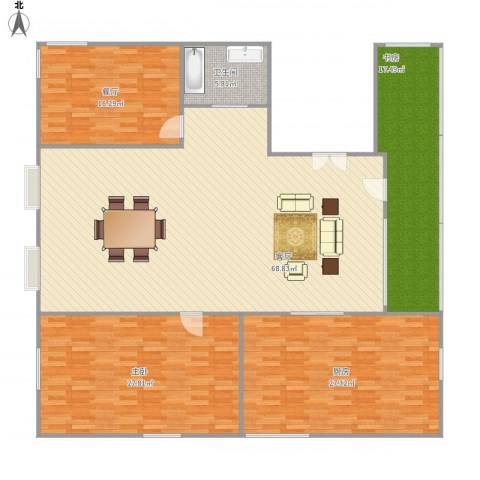 爱情公寓2室2厅1卫1厨214.00㎡户型图