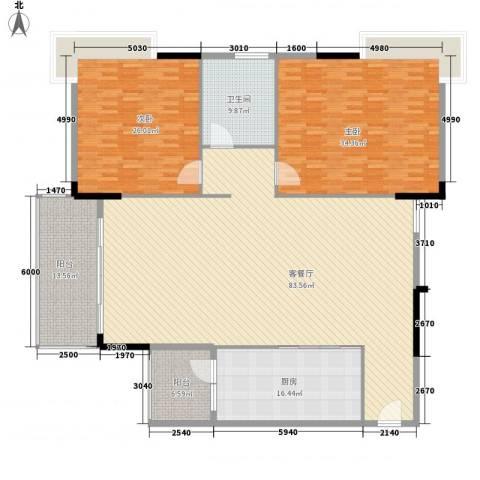 周屋基2室1厅1卫1厨255.00㎡户型图