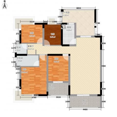 新城国际公馆4室1厅2卫1厨160.00㎡户型图