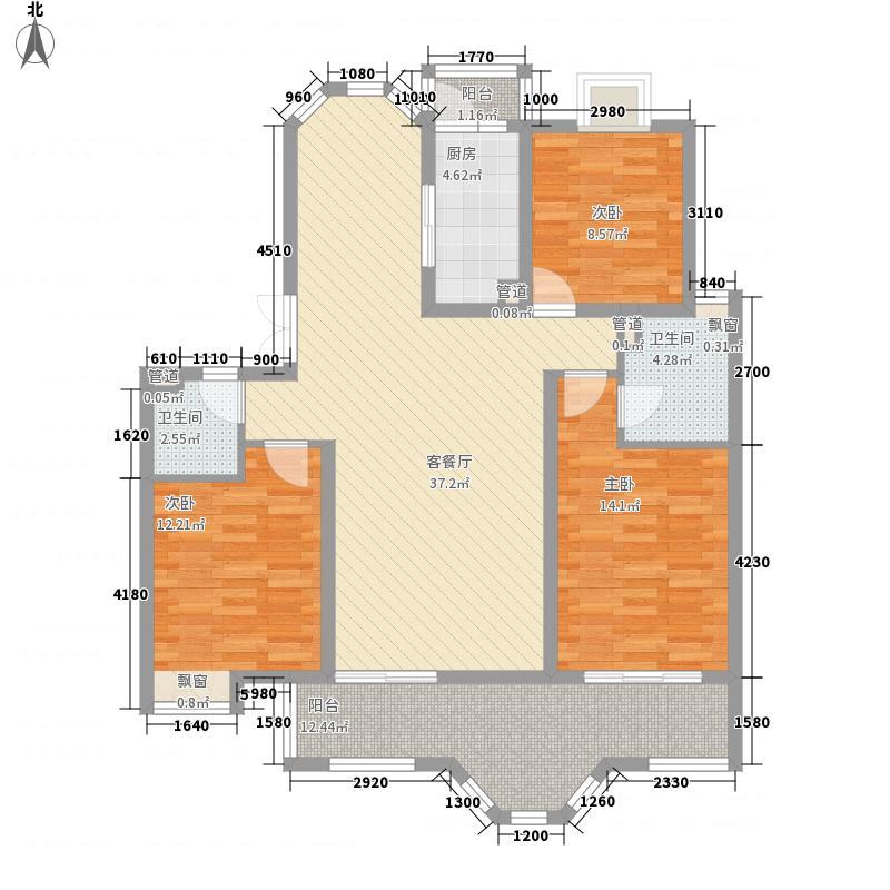 中南军山半岛140.00㎡中南军山半岛户型图41#A户型3室2厅2卫1厨户型3室2厅2卫1厨