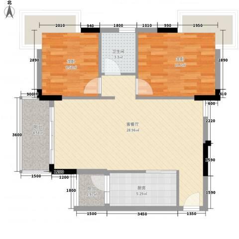 周屋基2室1厅1卫1厨300.00㎡户型图