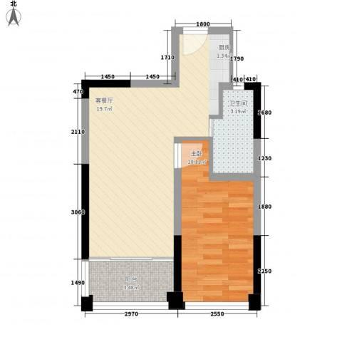 �海1室1厅1卫0厨53.00㎡户型图