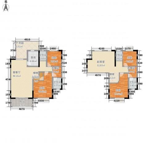 新城国际公馆4室1厅4卫1厨242.00㎡户型图