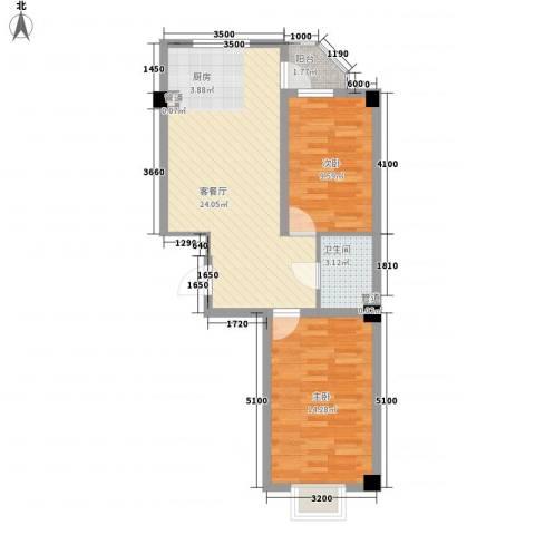 和嘉・佳园2室1厅1卫0厨86.00㎡户型图