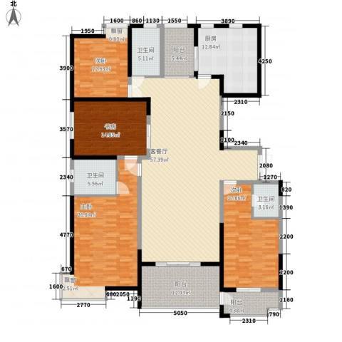 鼎正中央领郡4室1厅3卫1厨230.00㎡户型图