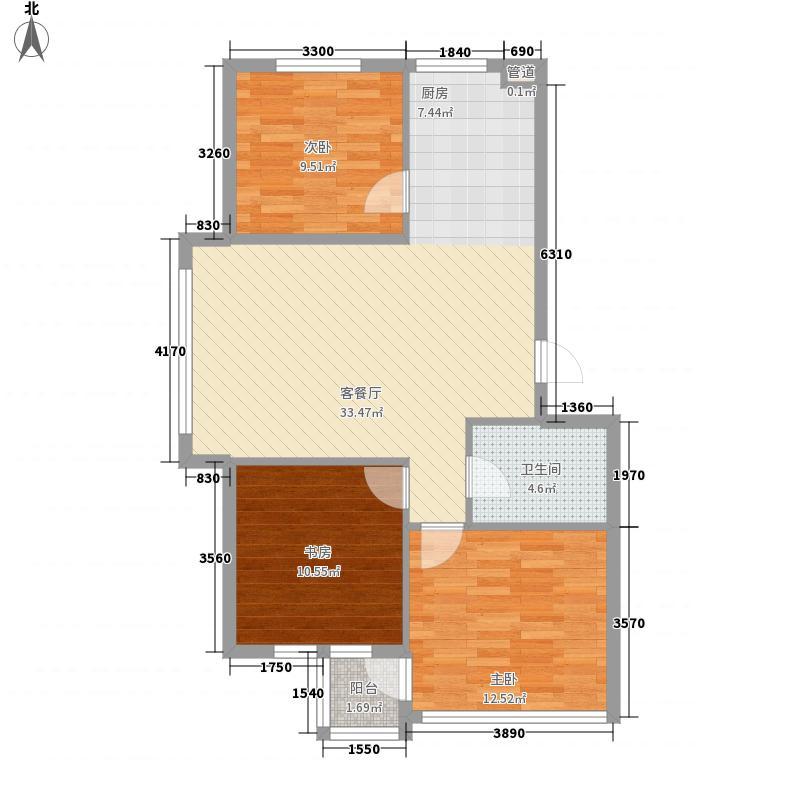阳光生态城94.96㎡阳光生态城户型图3室2厅1卫户型10室
