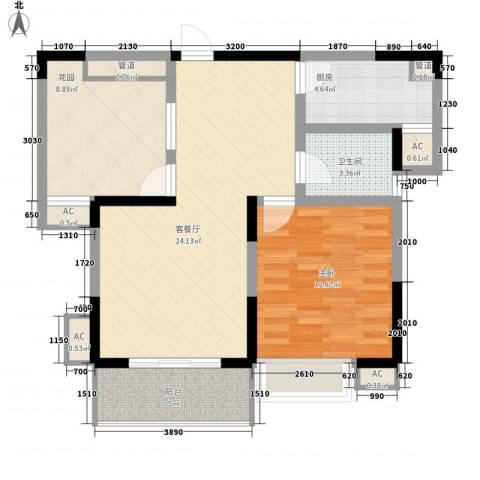 家天下1室1厅1卫1厨77.00㎡户型图