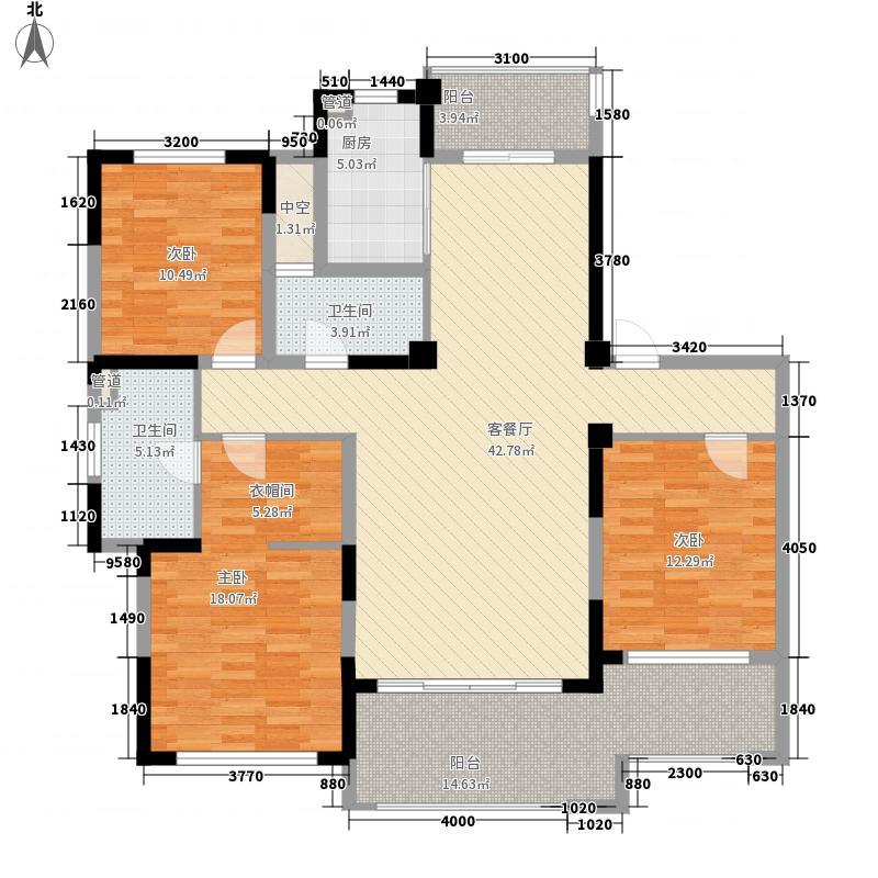 万濠华府168.00㎡万濠华府户型图7#楼标准层户型3室2厅2卫1厨户型3室2厅2卫1厨