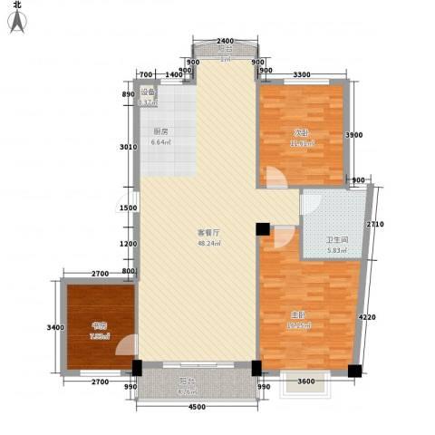 兰溪文苑3室1厅1卫0厨122.00㎡户型图