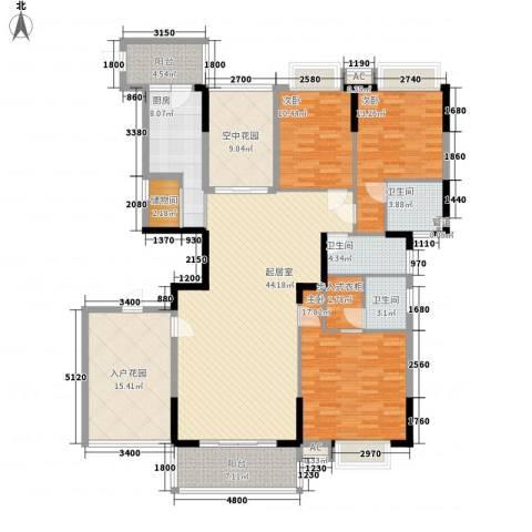 新世纪领居3室0厅3卫1厨172.00㎡户型图