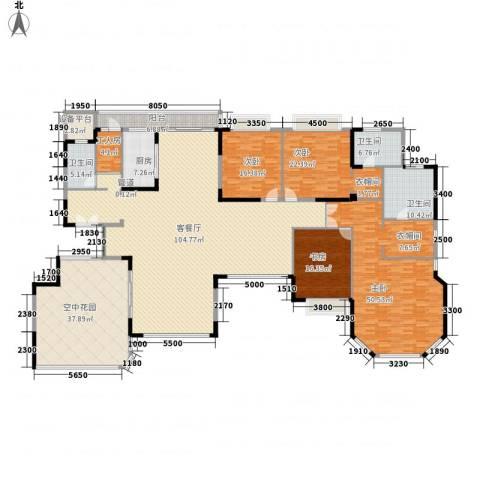 恒大华府4室1厅3卫1厨306.00㎡户型图