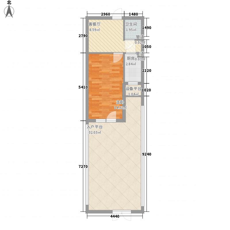 圣菲拉小镇47.20㎡圣菲拉小镇户型图E1户型1室1厅1卫户型1室1厅1卫