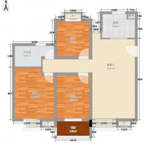 中瑾翰铂府4室1厅1卫1厨116.00㎡户型图