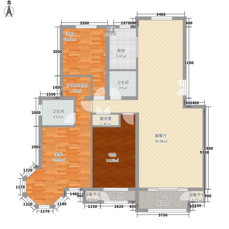 泰和地中海148.70㎡G户型3室2厅2卫1厨