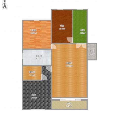 盐城金辉城3室1厅1卫1厨149.00㎡户型图