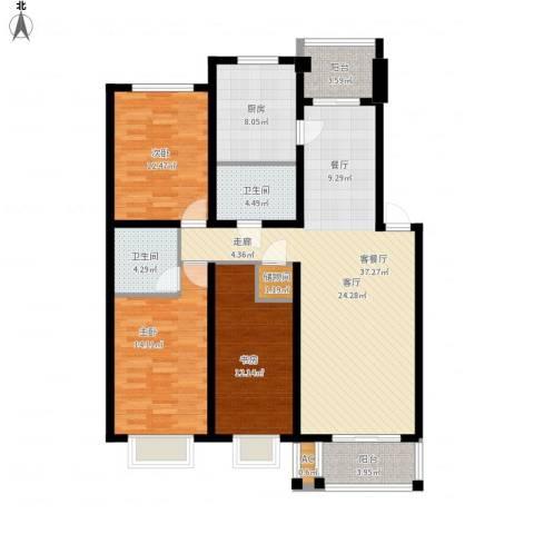 你好荷兰城3室1厅2卫1厨117.75㎡户型图