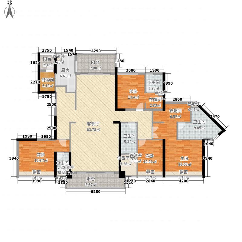 万科金域蓝湾258.00㎡万科金域蓝湾户型图愉景湾2座02户型4室2厅2卫1厨户型4室2厅2卫1厨
