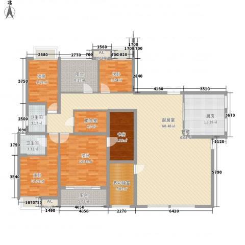 东渡青筑5室0厅2卫1厨224.00㎡户型图