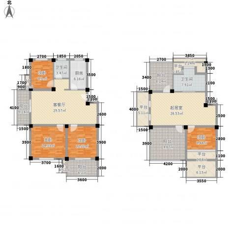 帝豪・星港湾4室1厅2卫1厨170.68㎡户型图