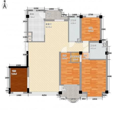 香洲心城4室1厅2卫1厨152.00㎡户型图