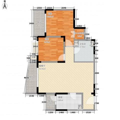 富景海派公馆2室1厅1卫1厨79.50㎡户型图