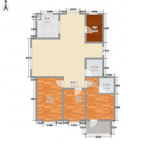 贵和花园4室1厅2卫1厨127.00㎡户型图