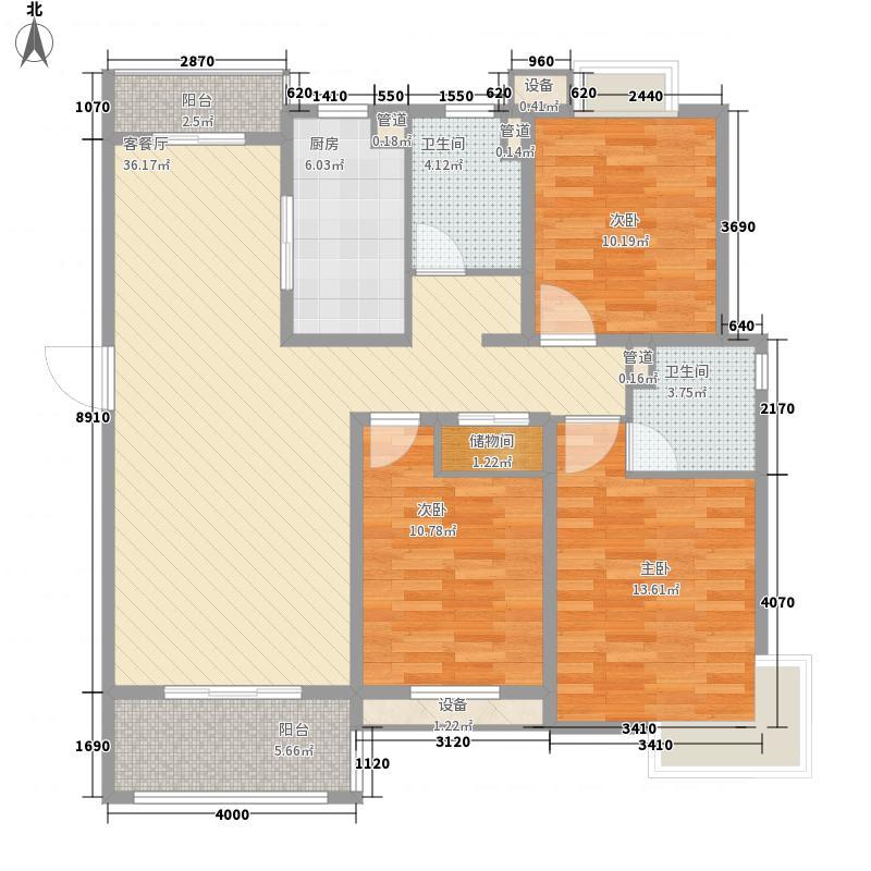 南山华庭136.00㎡户型3室2厅2卫1厨