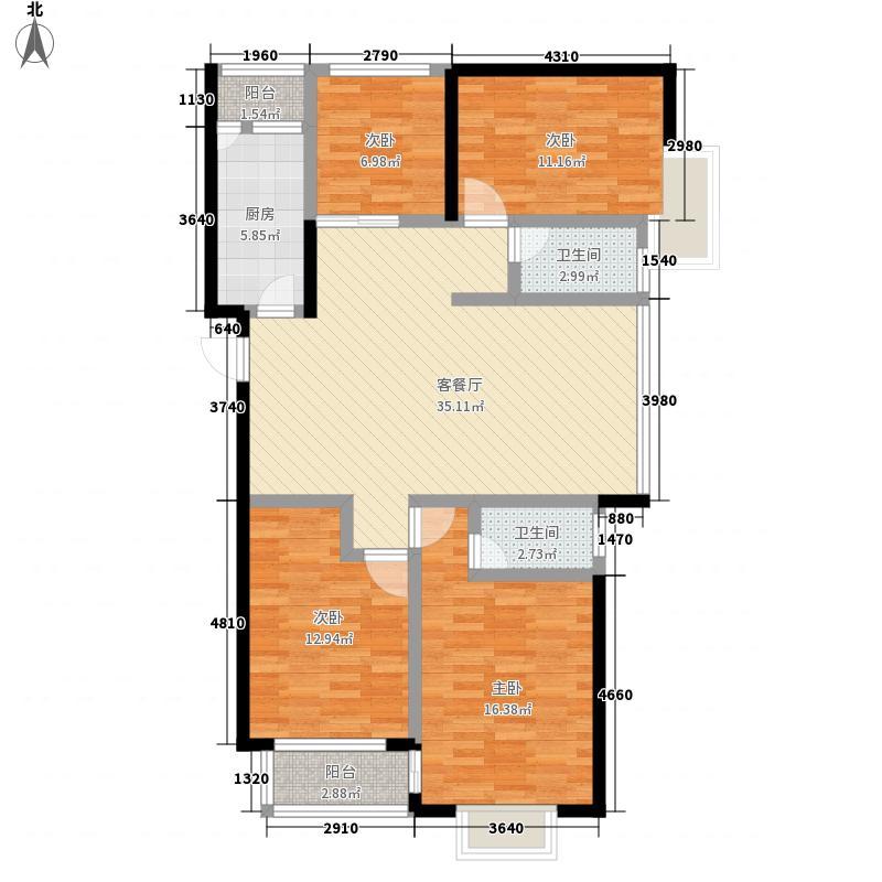 玉园小区140.00㎡玉园小区4室户型4室