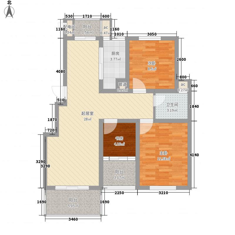 名都豪庭103.50㎡名都豪庭户型图5#、7#楼标准层05室3室2厅1卫1厨户型3室2厅1卫1厨
