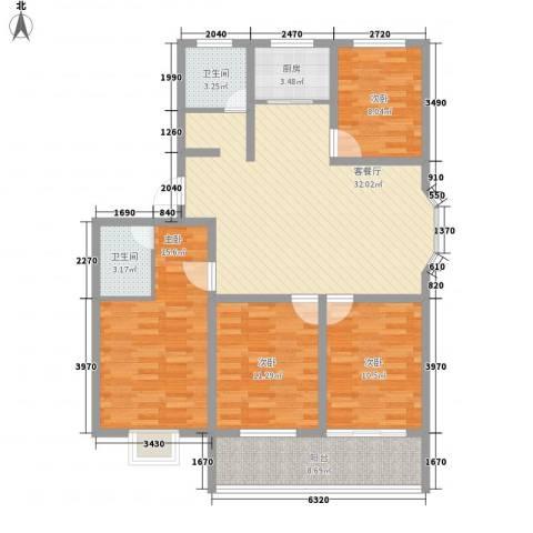 永福苑4室1厅2卫1厨138.00㎡户型图