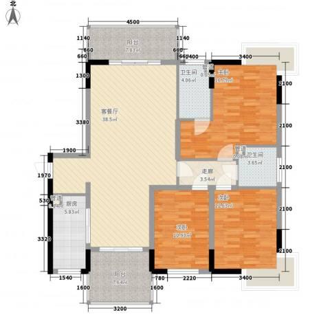 春江花月3室1厅2卫1厨141.00㎡户型图