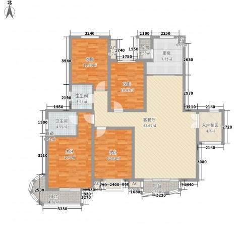 九派香邻4室1厅2卫1厨184.00㎡户型图