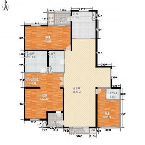 银河丽湾二期丽湾上品3室1厅3卫1厨260.00㎡户型图