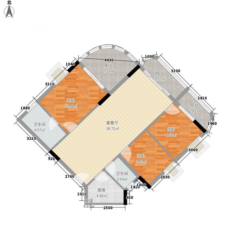 云山雅居119.00㎡云山雅居户型图三房精选3室2厅2卫1厨户型3室2厅2卫1厨