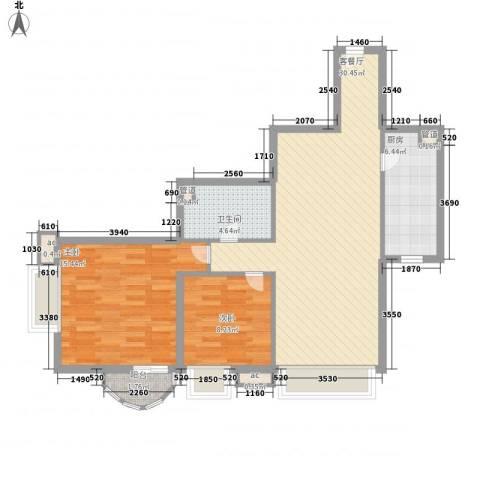 �泰大厦2室1厅1卫1厨96.00㎡户型图