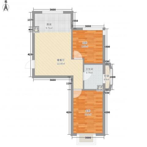 和嘉・佳园2室1厅1卫0厨63.00㎡户型图