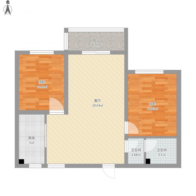 万通华府A座1503两室两厅