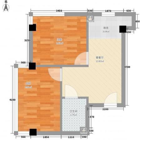 和嘉・佳园2室1厅1卫0厨60.00㎡户型图