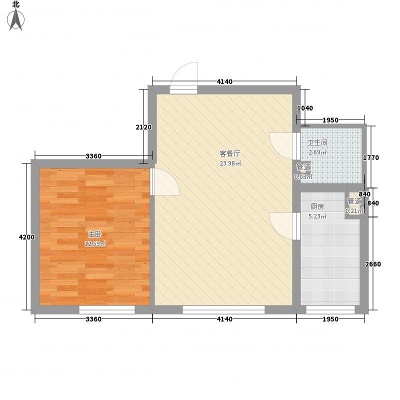 东亚国际城63.00㎡东亚国际城1室户型1室