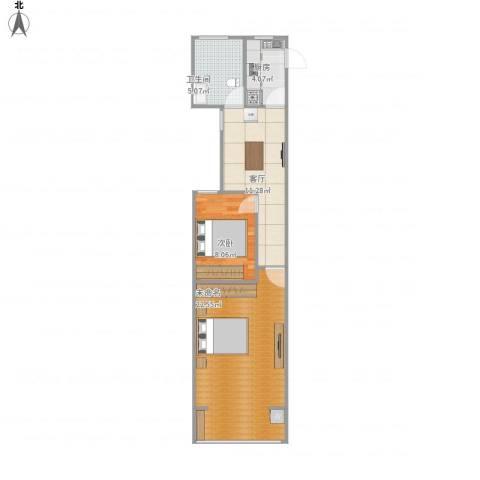 绿园一村1室1厅1卫1厨69.00㎡户型图